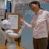 Socializing with Robots at Ginza
