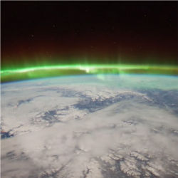 Aurora Borealis from International Space Station