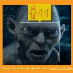 Gollum on how-old.net
