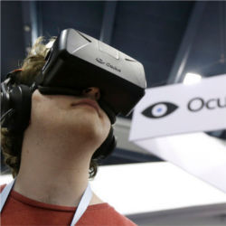 Oculus virtual reality headset