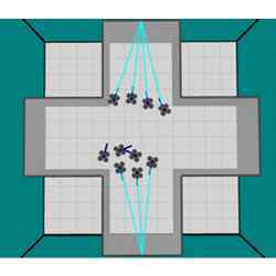 Directing the individual robots that make up a swarm.