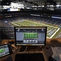 Monitor above Ford Field