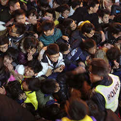 A stampede during a New Year's Eve light show in Shanghai last year left 36 people dead.