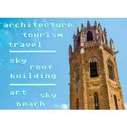 "Flickr users tagged a photograph similar to this one architecture,"" tourism,"" and ""travel. A machine-learning system that used a novel training strategy developed at MIT proposed sky,"" roof, and building."