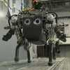 Dog Robot Copes with Rough Terrain