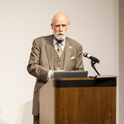 Google vice president and chief Internet evangelist and former ACM president Vint Cerf.