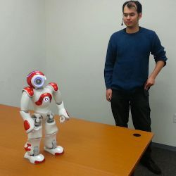 Nao robot at Tufts Human-Robot Interaction Lab