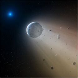Disintegrating planet around white dwarf star