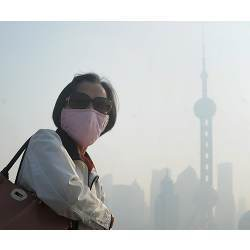 A smoggy view of Beijing.