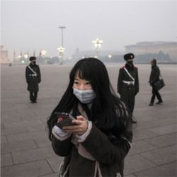 Air pollution, Beijing, China