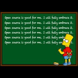 Bart Simpson at blackboard