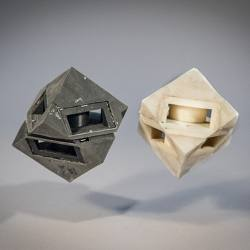 Researchers outfitted their cube robots with shock-absorbing skins.