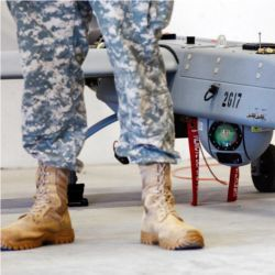 Soldier and unmanned aerial system