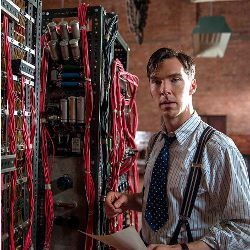 Benedict Cumberbatch portraying Alan Turing