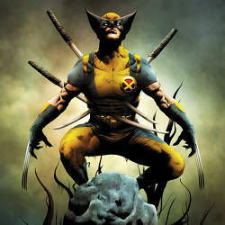 Wolverine, a comic book character who can heal any injury.