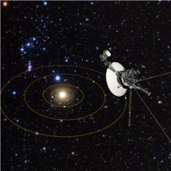 Voyager 1 views solar system