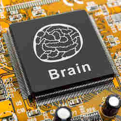 Artist's conception of a brain-inspired chip.