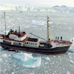 Research ship M/V Cape Race, Greenland