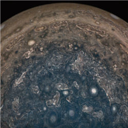 Jupiter south pole from Juno spacecraft