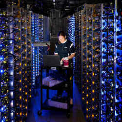 Servicing Google's datacenter.