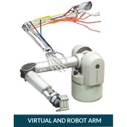 virtual and robot arm, illustration