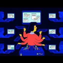 A representation of Jill Watson, Virtual Teacher's Assistant.