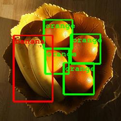A Google algorithm recognizes fruit in a bowl.