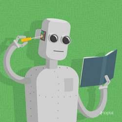 Artist's representation of machine learning.