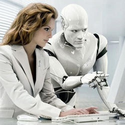 Artist's impression of an artificial intelligence-based teacher.