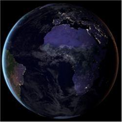 Euro-Africa composite globe
