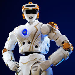 A virtual NASA robot.