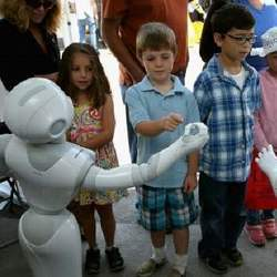 Children and robots.