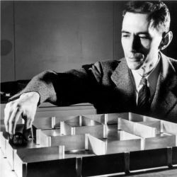 Claude Shannon with Theseus