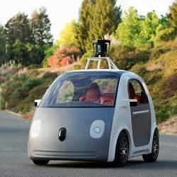 A Google autonomous vehicle prototype.