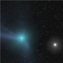 Comet approaching inner solar system