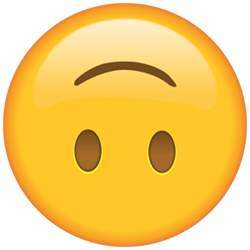 The upside-down smiley face emoji is sometimes used to indicate sarcasm.