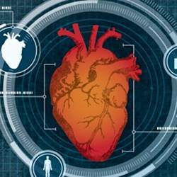The system uses low-level Doppler radar to measure the user's heart.