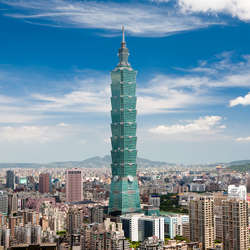 The 1,667-foot tall Taipei 101 Tower, once the world's tallest building.