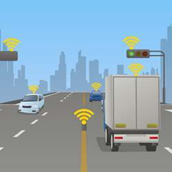 Using the communication capabilities of autonomous vehicles to coordinate their movements.