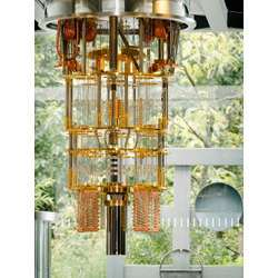 Part of IBM's newest quantum computer.