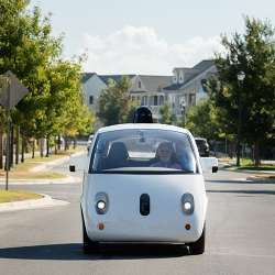 Legally blind Steve Mahan was the first non-Google employee to ride alone in the companys autonomous car.