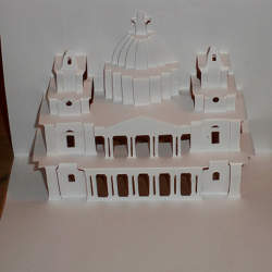 An example of the art of Kirigami paper folding and cutting.