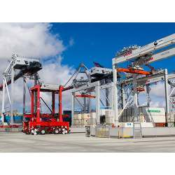 Autonomous cranes have been in use at the Port of Los Angeles for at least two years.