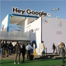 Google CES 2018 booth