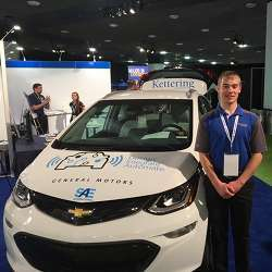 Kettering University freshman Eric Smith is one of more than 60 students participating in the AutoDrive Challenge.