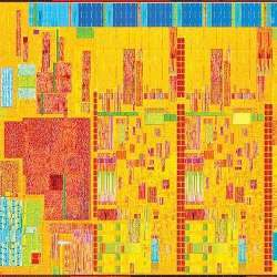 A portion of Intel's Core M processor, in the Broadwell chip line.