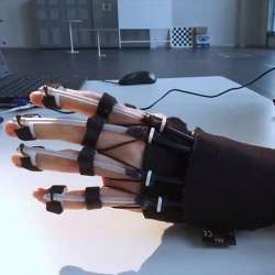 The hand exoskeleton.