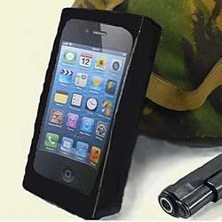 An iPhone in a bulletproof case.