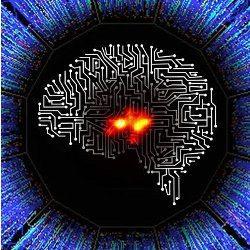 digital brain, illustration