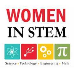 A Women in STEM logo.